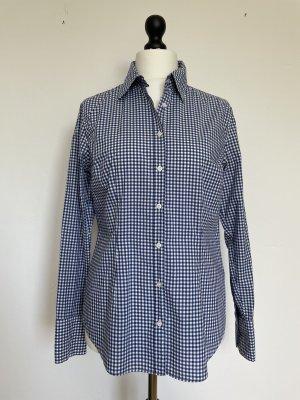 0039 Italy Camicia a scacchi blu-bianco Cotone