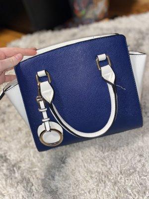 Blau/ Weiße Tasche