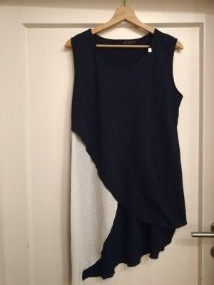 Sukienka tunika biały-ciemnoniebieski