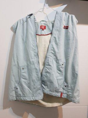 Tantum O.N. Gilet à capuche blanc-bleu clair