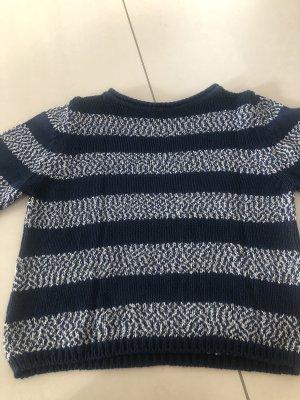 Marella Knitted Sweater white-dark blue