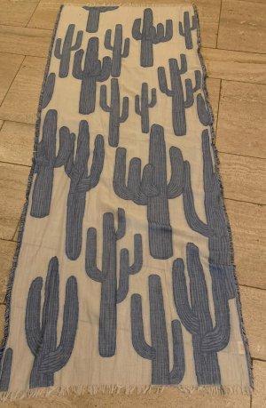 diadem Écharpe d'été blanc-bleu acier coton