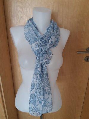 Chiara Summer Scarf white-cornflower blue