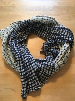 Blau-weißes Crinckle-Halstuch