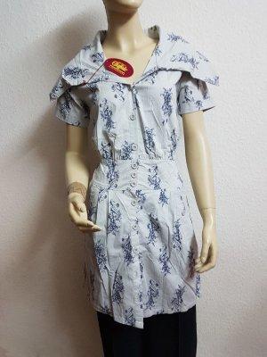 blau weißes Damenkleid von Bufallo Größe 34 Neu mit Etikett