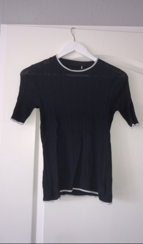 blau weißes seiden t-shirt