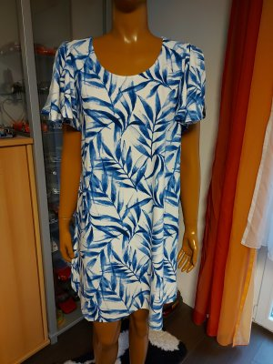 blau weißes Sommerkleid Größe M