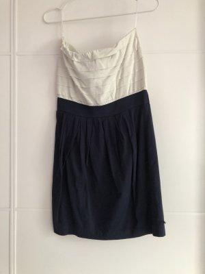 Blau/weißes Sommerkleid Mango