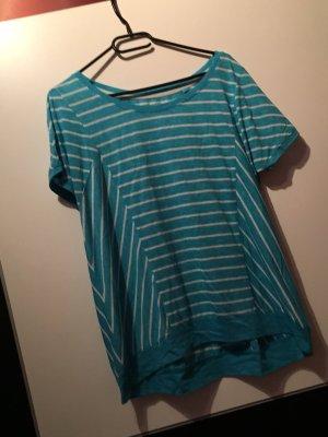 Blau weißes T-Shirt