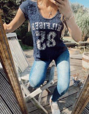 Blau / weißes Tommy Hilfiger T-Shirt