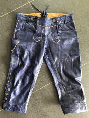 MarJo Pantalón de cuero tradicional azul