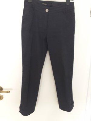 Apanage Spodnie 7/8 ciemnoniebieski Bawełna