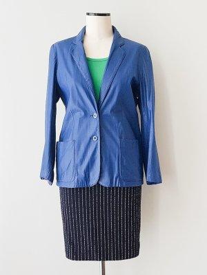 C&A Leren blazer neon blauw Leer