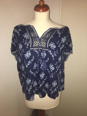 Blaue Abercrombie and Fitch Bluse