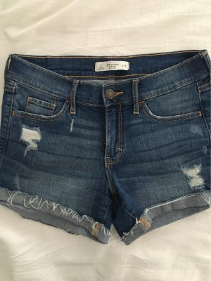 Blaue Abercrombie & Fitch Shorts