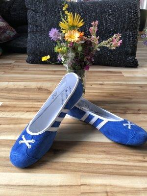 Blaue Adidas Ballerinas Gazelle NEU