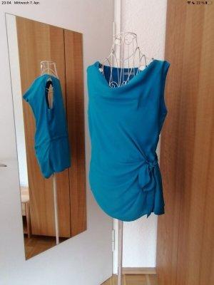 Orsay Jedwabna bluzka niebieski