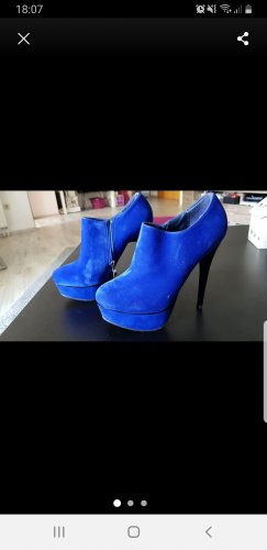 blaue ankle boots