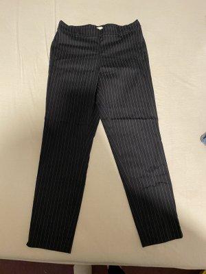 H&M Pantalon donkerblauw-wit