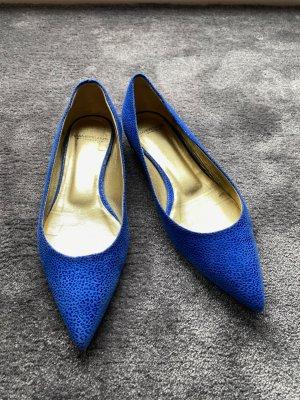 Cenedella Ballerinas with Toecap neon blue mixture fibre