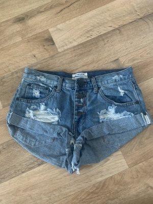 One teaspoon Pantaloncino di jeans blu