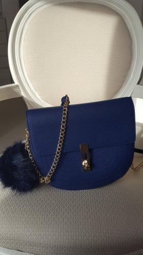 BCBG Maxazria Gekruiste tas goud-blauw