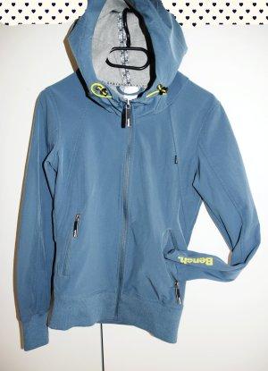 Bench Softshell Jacket cornflower blue-neon yellow mixture fibre