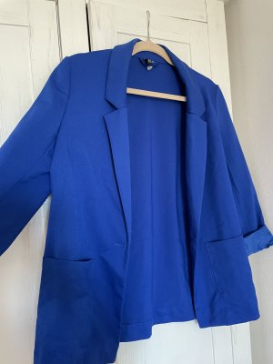 H&M Leather Blazer blue