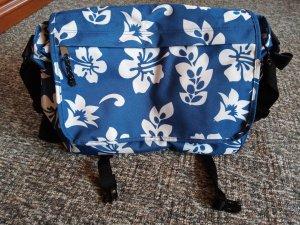 blaue Blumentasche