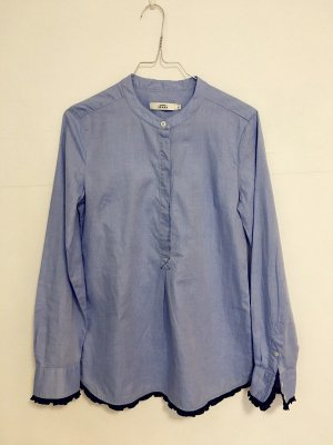 0039 Italy Bluzka z długim rękawem chabrowy Bawełna
