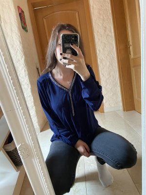 Active USA Long Sleeve Blouse dark blue