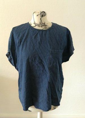 armedangels Basic Shirt blue-dark blue