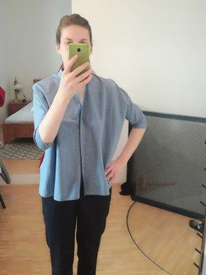 blaue Bluse COS