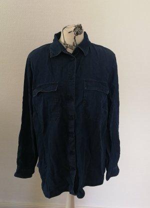 Armedangels Blouse en jean bleu-bleu foncé