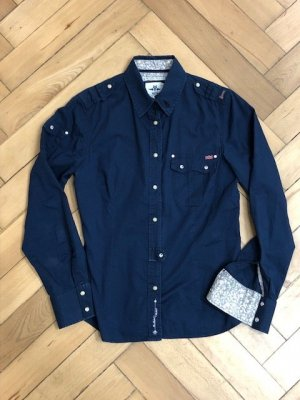 Blaue Bluse Military-Style, NZA  D40