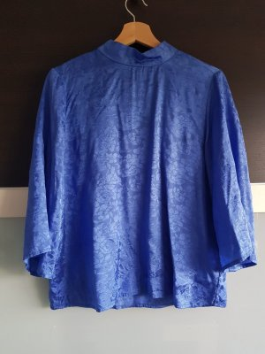 Blaue Bluse mit Jacquardmuster, Gina Tricot, Gr. S