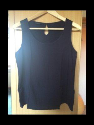 Blaue Bluse ohne Ärmel