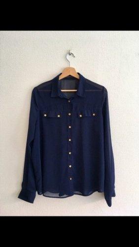 blaue Bluse von Atmosphere, Vintage