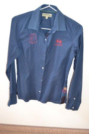 Blaue Bluse von La Martina Gr. 2 (S)