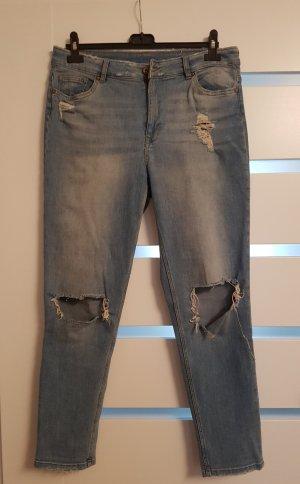Blaue boyfriend jeans mit Löchern H&M