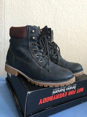 Bruno Banani Low boot bleu foncé-bleu faux cuir