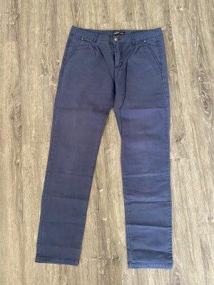 Only Pantalon chinos gris ardoise-bleu foncé