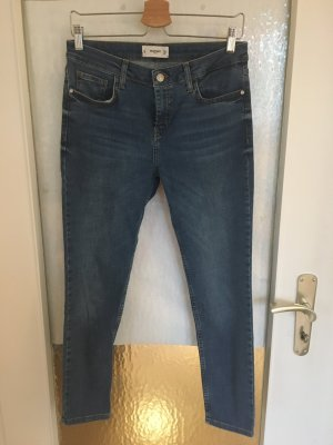 Mango 7/8-jeans staalblauw-korenblauw