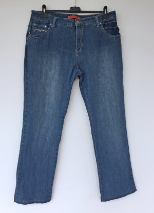 Authentic High Waist Jeans cornflower blue-steel blue cotton