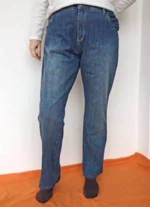 Authentic Jeans taille haute bleuet-bleu acier coton