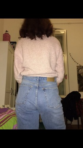 Jeans a carota azzurro