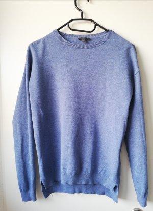 Blaue düner Pullover