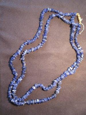 Blaue Edelsteinkette, als Arm- oder Halskette, mit Drehverschluss