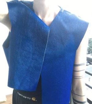 Patrick Mohr Bontgilet blauw-donkerblauw