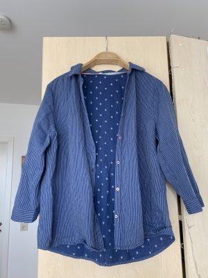 Blaue gestreifte Bluse Hemd
